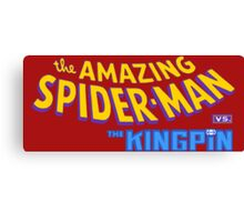 The amazing Spider-Man vs The Kingpin Canvas Print