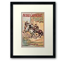 Artist Posters Michael Carmichael a story of love and mystery by Miles Sandys 0614 Framed Print