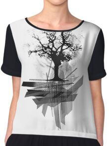 Grunge Tree Chiffon Top