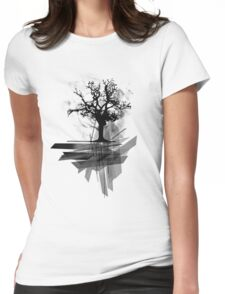 Grunge Tree Womens Fitted T-Shirt