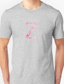 Zeta Pink Watercolor Letter Unisex T-Shirt