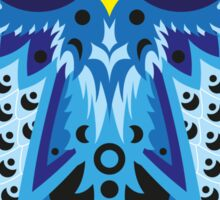 Blue Shaded Owl Sticker