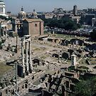 Forum from Farnese Gardens Palatine Hill Rome Italy 19840719 0014  by Fred Mitchell