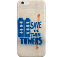 Save the twin Towers iPhone Case/Skin
