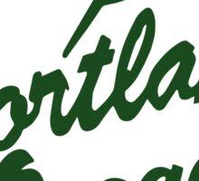Portland Oregon Sign in Green Sticker