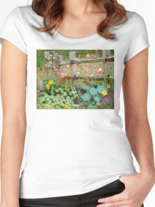 Nasturtium fields Women's Fitted Scoop T-Shirt