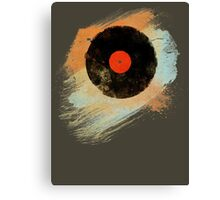 Vinyl Record Retro T-Shirt - Vinyl Records Modern Grunge Design Canvas Print