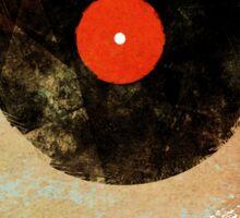 Vinyl Record Retro T-Shirt - Vinyl Records Modern Grunge Design Sticker