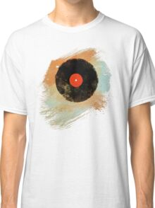 Vinyl Record Retro T-Shirt - Vinyl Records Modern Grunge Design Classic T-Shirt