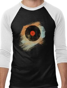 Vinyl Record Retro T-Shirt - Vinyl Records Modern Grunge Design Men's Baseball ¾ T-Shirt