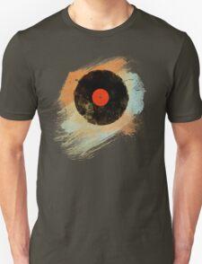 Vinyl Record Retro T-Shirt - Vinyl Records Modern Grunge Design T-Shirt