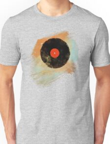 Vinyl Record Retro T-Shirt - Vinyl Records Modern Grunge Design Unisex T-Shirt