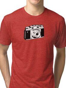 Retro Camera - Photographer T-Shirt Sticker Tri-blend T-Shirt