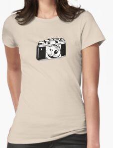 Retro Camera - Photographer T-Shirt Sticker Womens Fitted T-Shirt