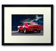 1968 Chevrolet Camaro RS396 'Rear' Framed Print