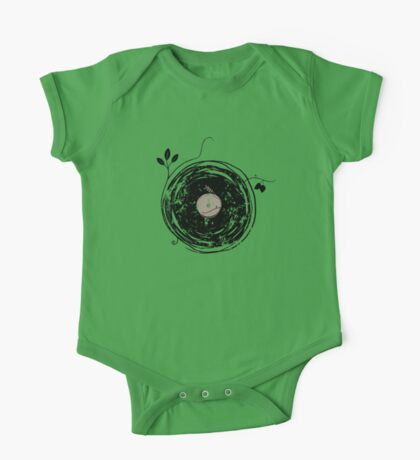 Enchanting Vinyl Records Vintage One Piece - Short Sleeve