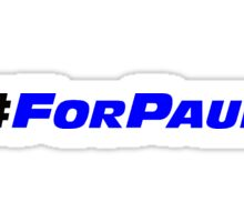 #ForPaul Blue Sticker