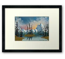 Sweet Mountain Sunrise Framed Print