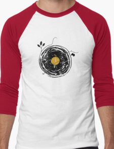 Enchanting Vinyl Records Vintage Men's Baseball ¾ T-Shirt