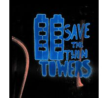Save the twin Towers -Black Photographic Print