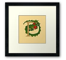 "Oscar and the Roses ""F"" (Illustrated Alphabet) Framed Print"