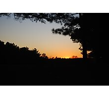 Sunset Orange Photographic Print