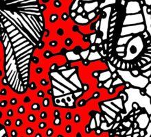 Abstract Chakra Zen Geometric Doodle 3d Color Sticker
