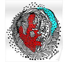 Abstract Chakra Zen Geometric Doodle 3d Color Poster