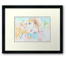 Drawing Sienna Drawing Framed Print