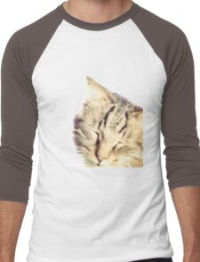 my cute kitty Men's Baseball ¾ T-Shirt