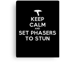 Keep calm and set phasers to stun - Alt version Canvas Print