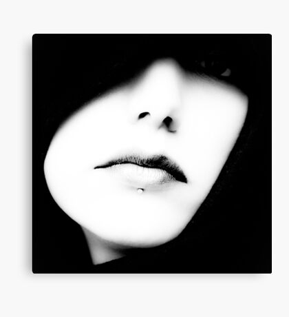 Classic Black & White Portrait Canvas Print