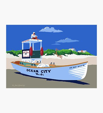 Life Guard On Duty Photographic Print