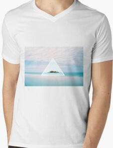 Blue Island Mens V-Neck T-Shirt