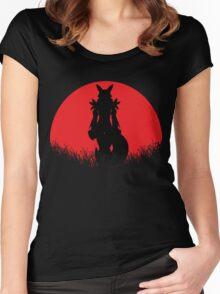 Renamon Digital Monster RED MOON Women's Fitted Scoop T-Shirt