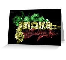 smoke rasta Greeting Card