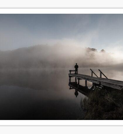Dawn on the Lake Sticker