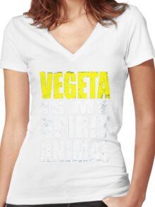 Vegeta is My Spirit Animal Women's Fitted V-Neck T-Shirt