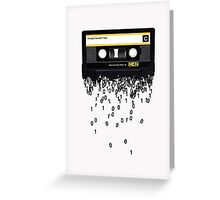 The death of the cassette tape. Greeting Card