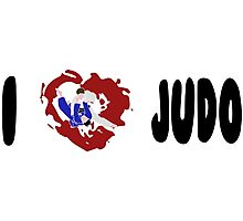 I LOVE JUDO Print Photographic Print