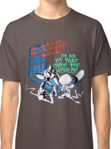 Pinky and Brain Take over The world Classic T-Shirt