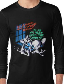 Pinky and Brain Take over The world Long Sleeve T-Shirt