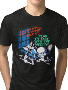 Pinky and Brain Take over The world Tri-blend T-Shirt