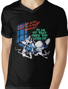 Pinky and Brain Take over The world Mens V-Neck T-Shirt