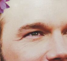 Flower Chris Pratt Sticker