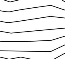 Zig-zag line retro Sticker