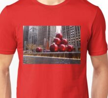 A Christmas Card from New York City – Radio City Music Hall and the Giant Red Balls Unisex T-Shirt