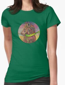 Feeding the parrot Womens Fitted T-Shirt