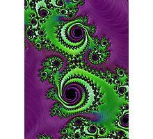 Gorgeous Purple Green Fractal  Photographic Print