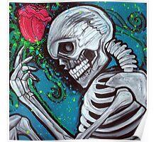 Skeleton Rose Poster